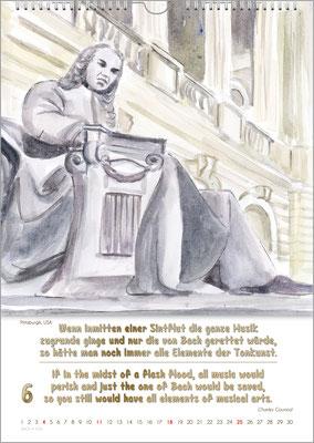 Musik-Geschenk Bach-Kalender 70 im Juni.
