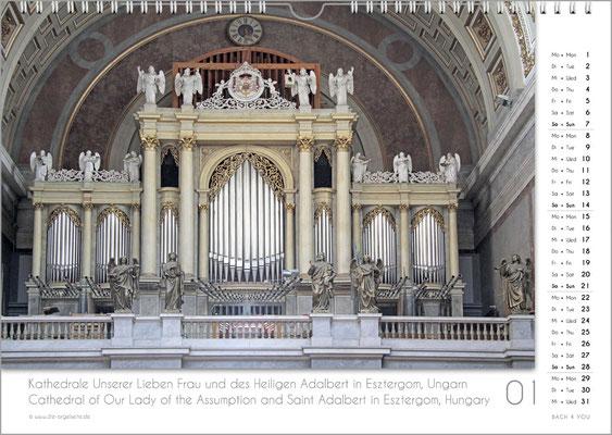 Der Januar im Orgelkalender 2018.