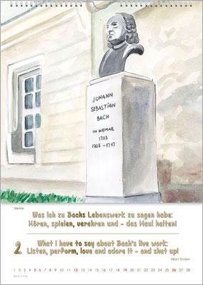 Musik-Geschenk Bach-Kalender 70 im Februar.