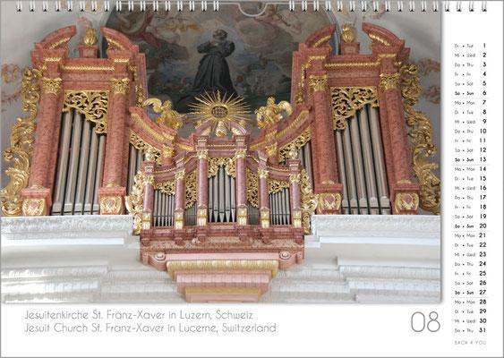 Musik-Geschenk Orgel-Kalender; August