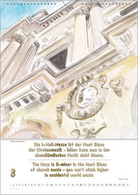 Musik-Geschenk Bach-Kalender 70 im August.