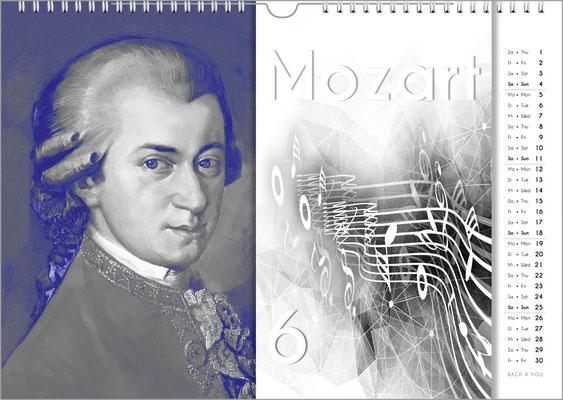 Musik-Geschenk Komponisten-Kalender 57 im Mai.