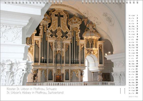 Musik-Geschenk Orgel-Kalender; November