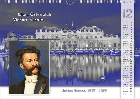 Musik-Geschenk Komponisten-Kalender 55 im Dezember.