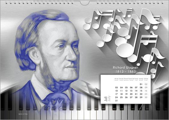 Musik-Geschenk Komponisten-Kalender 52 im Juli.