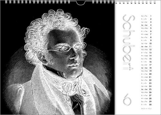 Musik-Geschenk Komponisten-Kalender 50 im Mai.