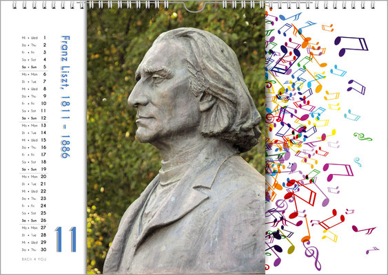 Musik-Geschenk Komponisten-Kalender 65 im November.