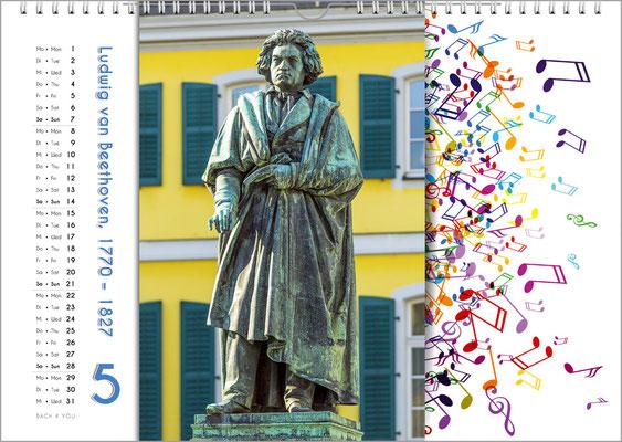 Musik-Geschenk Komponisten-Kalender 65 im Mai.