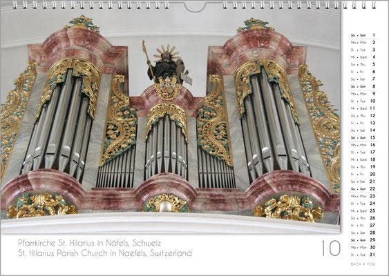 Musik-Geschenk Orgel-Kalender; Oktober