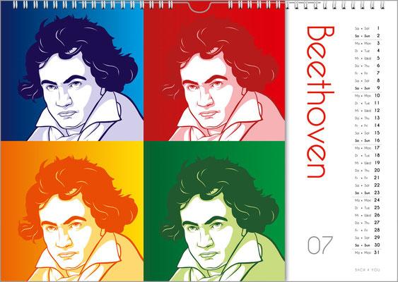 Der Komponisten-Kalender 39 im Juli.
