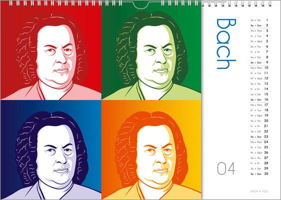 Der Komponisten-Kalender 39 im April.
