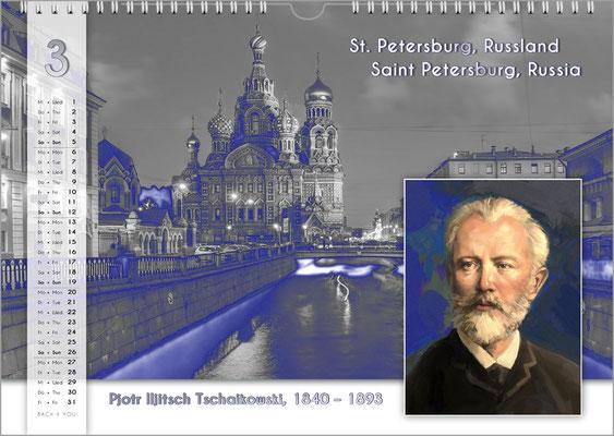 Musik-Geschenk Komponisten-Kalender 55 im März.