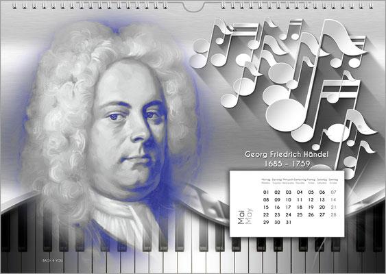 Musik-Geschenk Komponisten-Kalender 52 im Mai.