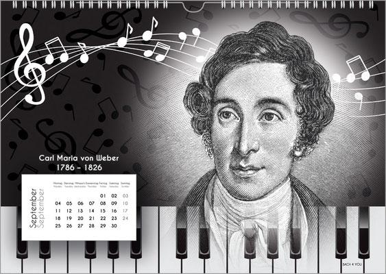 Der Komponisten-Kalender 38 im September.