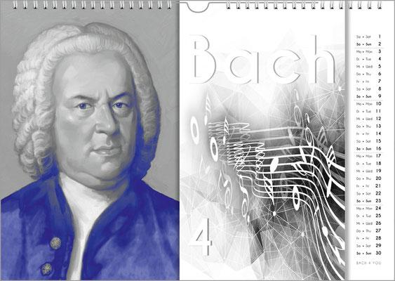 Musik-Geschenk Komponisten-Kalender 57 im März.