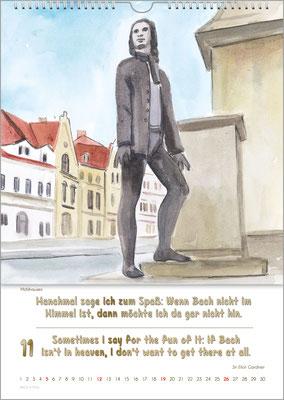 Musik-Geschenk Bach-Kalender 70 im November.