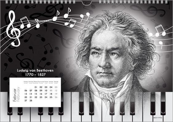 Der Komponisten-Kalender 38 im Februar.