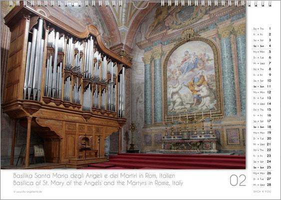 Der Februar im Orgelkalender 2018.