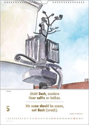 Musik-Geschenk Bach-Kalender 70 im Mai.