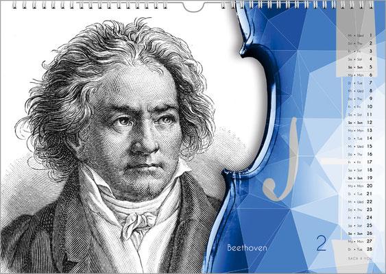 Der Komponisten-Kalender 49 im Februar.