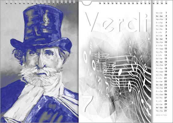 Musik-Geschenk Komponisten-Kalender 57 im Juni.