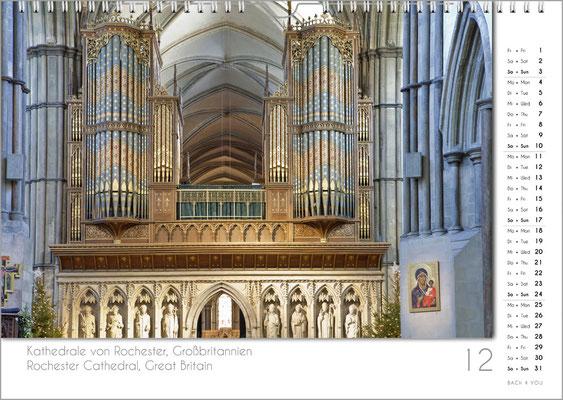 Musik-Geschenk Orgel-Kalender; Dezember