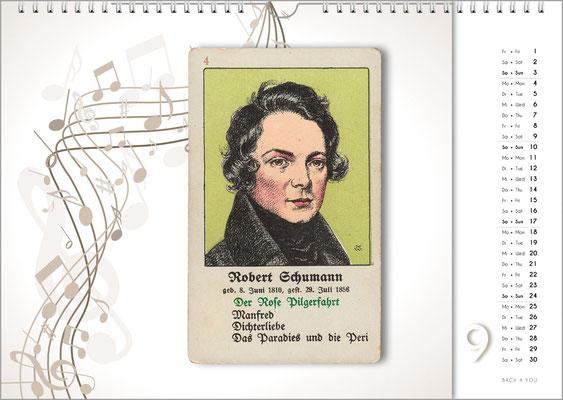 Musik-Geschenk Komponisten-Kalender 66 im September.