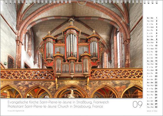 Der September im Orgelkalender 2019.
