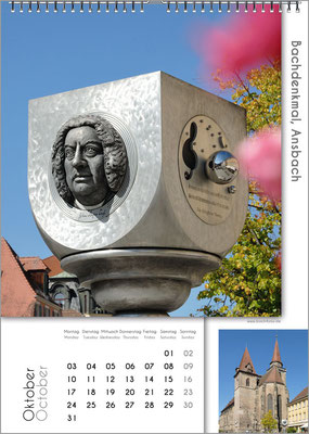 Musik-Geschenk Bach-Kalender 67 im Oktober.