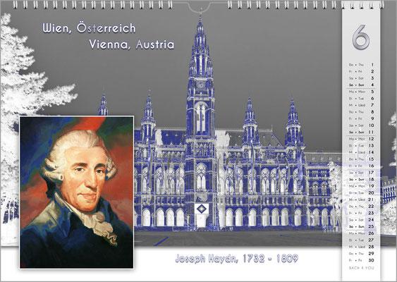 Musik-Geschenk Komponisten-Kalender 55 im Juni.
