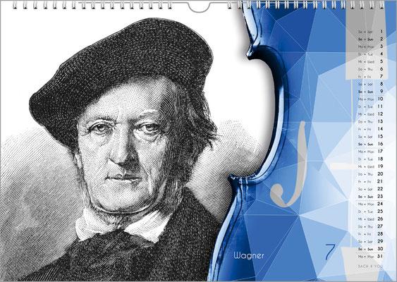Der Komponisten-Kalender 49 im Juli.