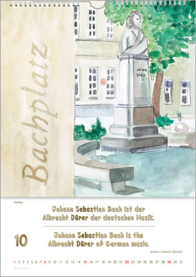 Musik-Geschenk Bach-Kalender 70 im Oktober.
