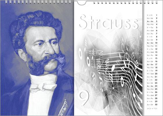 Musik-Geschenk Komponisten-Kalender 57 im August.