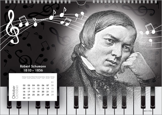Der Komponisten-Kalender 38 im Oktober.