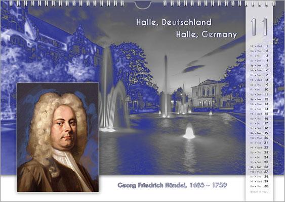 Musik-Geschenk Komponisten-Kalender 55 im November.