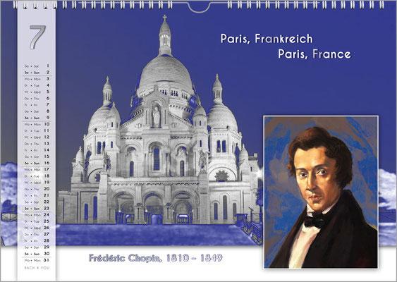 Musik-Geschenk Komponisten-Kalender 55 im Juli.