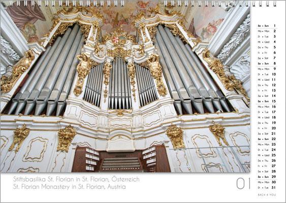 Musik-Geschenk Orgel-Kalender; Januar