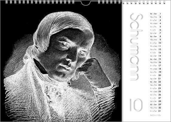 Musik-Geschenk Komponisten-Kalender 50 im September.