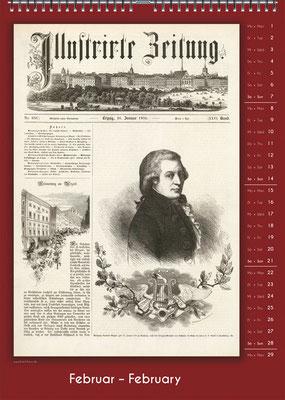 Der Komponisten-Kalender 34 im Februar.