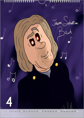 Musik-Geschenk Bach-Kalender 68 im April.
