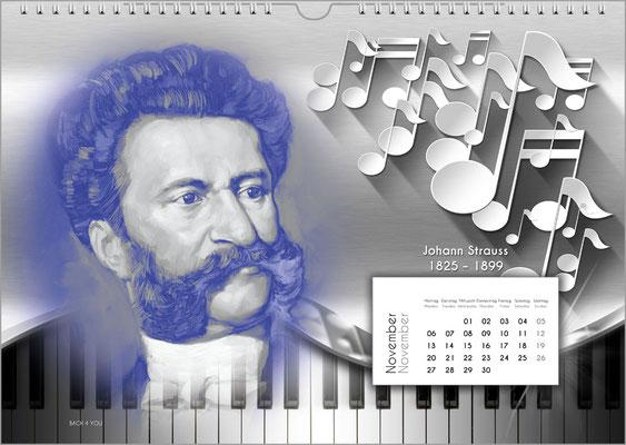 Musik-Geschenk Komponisten-Kalender 52 im November.