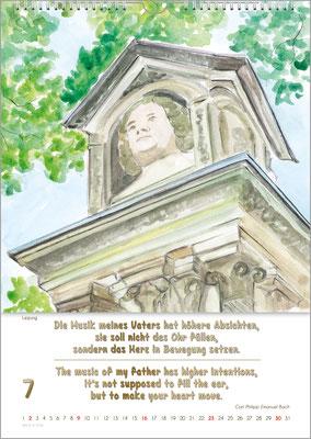 Musik-Geschenk Bach-Kalender 70 im Juli.