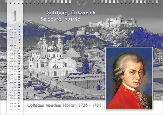 Musik-Geschenk Komponisten-Kalender 55 im Januar.