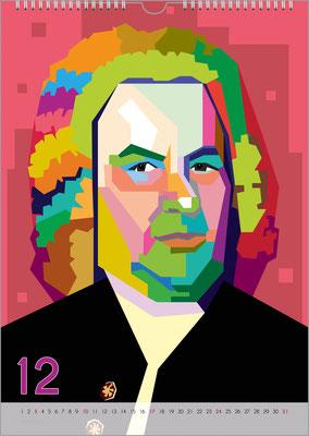 Musik-Geschenk Bach-Kalender 68 im Dezember.