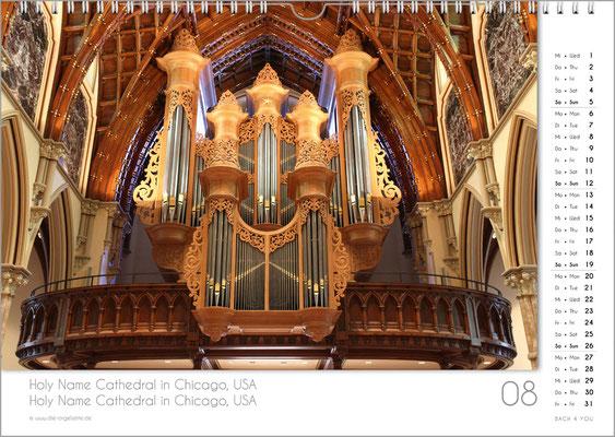 Der August im Orgelkalender 2018.