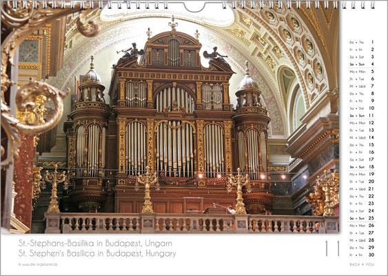 Der November im Orgelkalender 2018.