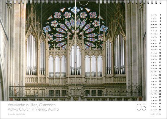 Der März im Orgelkalender 2018.