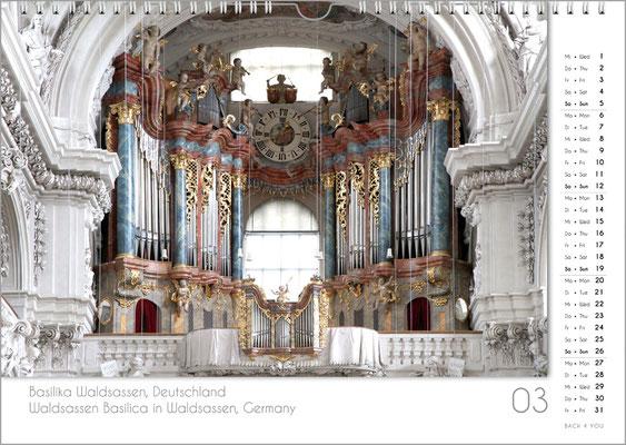 Musik-Geschenk Orgel-Kalender; März