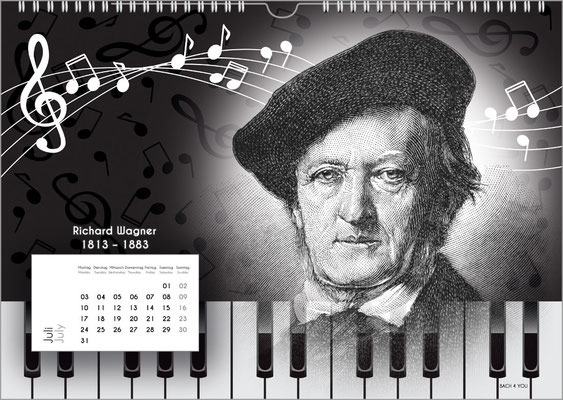 Der Komponisten-Kalender 38 im Juli.