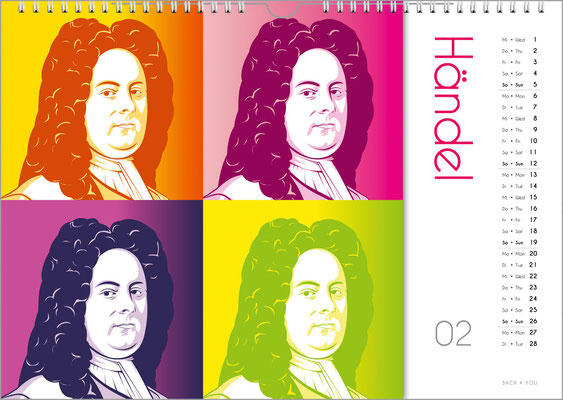Der Komponisten-Kalender 39 im Februar.